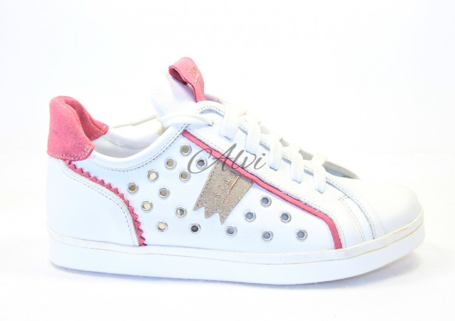 Sneakers Stau bianco borchie