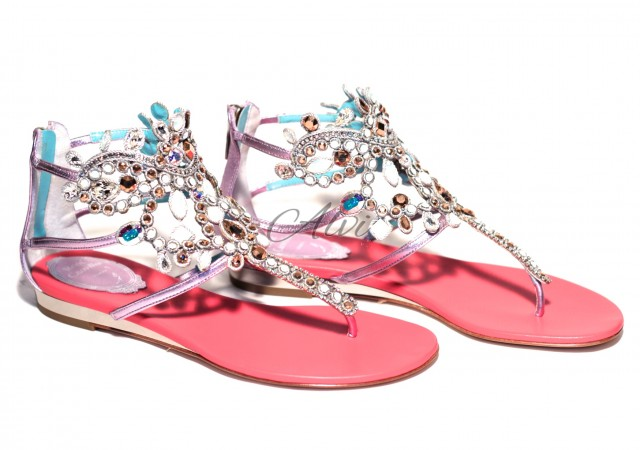 Sandali gioiello René Caovilla argento
