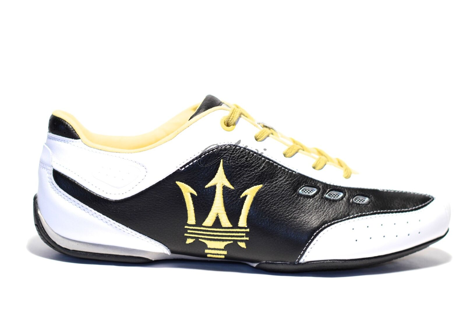 various colors 51132 ad7ad scarpe maserati sportive bianche nere gialle