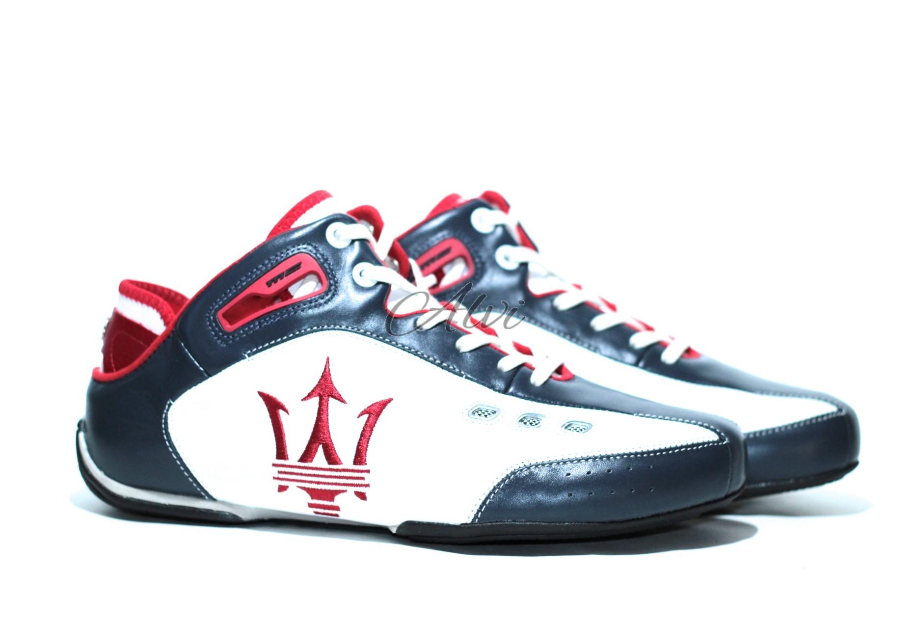 colore n brillante eccezionale gamma di stili e colori vendita online scarpe uomo sportive maserati blu bianco rosso