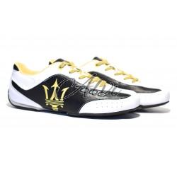 Sneakers Maserati tricolore nero bianco giallo