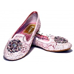 Pantofole gioiello rosa Pluspartout
