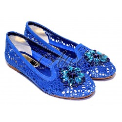 Pantofole pluspartout blu elettrico
