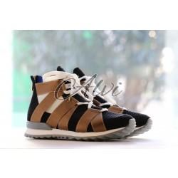 Sneakers Vionnet nere bronzo
