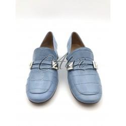 Mocassini Mulberri azzurri stampa cocco