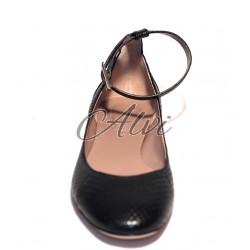Ballerine Chloé nere in rettile con cinturino