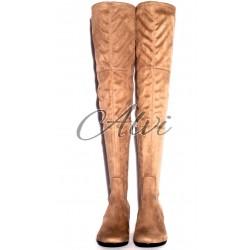 Stivali sopra il ginocchio beige