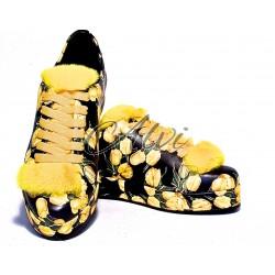 Sneakers fantasia floreale