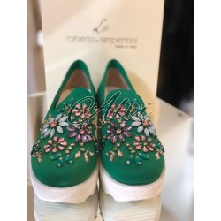 Slip-on Roberto Serpentini verde