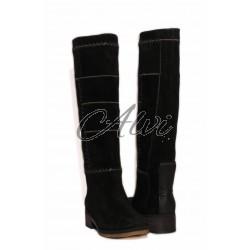 Stivali in camoscio neri